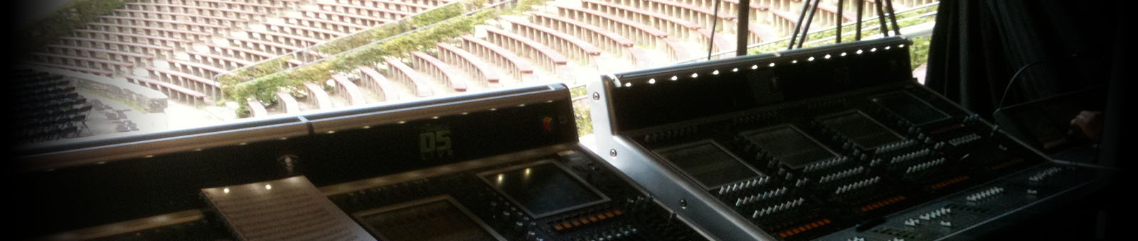 view from live mixing console at outdoor event
