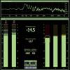 digital green vu meter display
